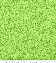 Keepsake Calico™ Cotton Fabric-Swirl Lime Garden, , hi-res