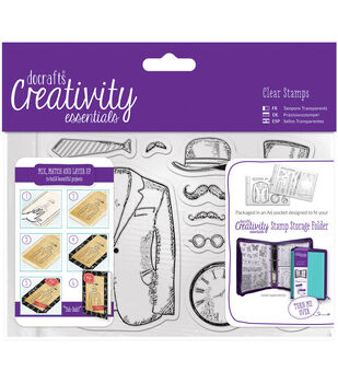 Docrafts Creativity Essentials A6 Clear Stamp Set-Mister