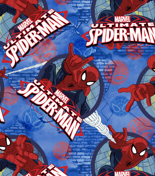 Marvel Spidey Frames Fleece Fabric