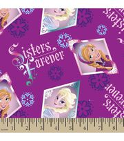 Disney Frozen Sisters Floral Cotton Fabric, , hi-res