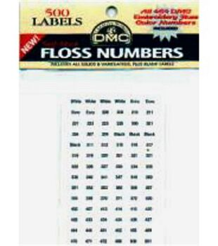 Floss Number Sticker Packs-500 Labels