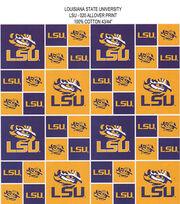 Louisiana State University NCAA  Cotton Fabric, , hi-res