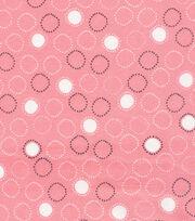 Cloud 9 Organic Cotton Knit Fabric-Circles Pink, , hi-res