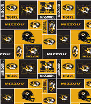 University of Missouri NCAA Block Fleece Fabric, , hi-res