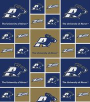 University of Akron NCAA Cotton Fabric, , hi-res