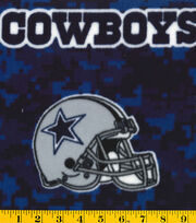 Dallas Cowboys NFL Digital Fleece Fabric by Fabric Traditions, , hi-res