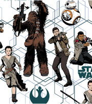 Star Wars VII Heroes Allover Cotton Fabric, , hi-res