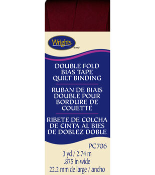 Double Fold Quilt Binding 3 Yd Ox Blood