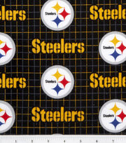 Pittsburgh Steelers NFL Plaid Flannel Fabric by Fabric Traditions, , hi-res