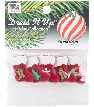 Dress It Up Holiday Embellishments-Stockings