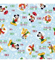 Holiday Inspirations Fabric-Christmas Mickey Looks Like Snow, , hi-res