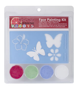 Ruby Red Face Painting Butterfly Stencil Kit