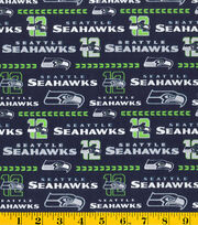 Seattle Seahawks NFL Glitter Cotton Fabric by Fabric Traditions, , hi-res