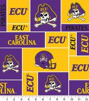 East Carolina University NCAA Block Fleece Fabric, , hi-res