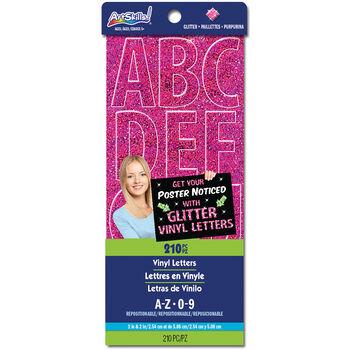 Artskills Glitter Vinyl Letters Pink