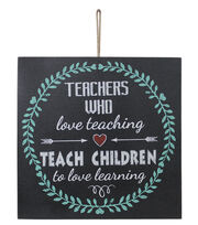 Escape To Paradise Wall Plaque-Teachers Love Teaching, , hi-res
