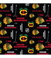 Chicago Blackhawks NHL Cotton Fabric, , hi-res