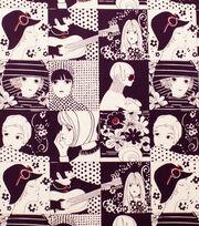 Alexander Henry Cotton Fabric-Chelsea Aubergine, , hi-res