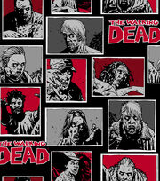 The Walking Dead Zombie Characters Cotton Fabric, , hi-res