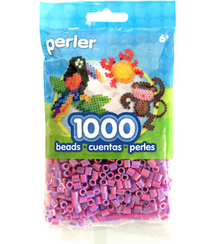 Perler Beads 1,000 Count-Cherry Blossom Stripe