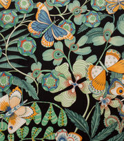 Alexander Henry Cotton Fabric-Chiara  Black Sage, , hi-res