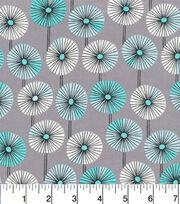 Cloud 9 Premium Cotton Fabric-Fans Gray, , hi-res