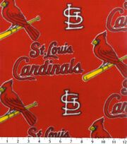 St. Louis Cardinals MLB Red Fleece Fabric, , hi-res