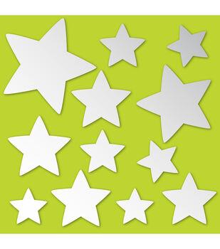 Wall Pops Stars Peel and Stick Mirror Art, 12 Piece Set