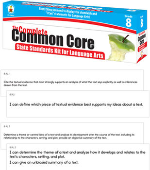 Complete Common Core State Standards Kit for Language Arts Grade 8