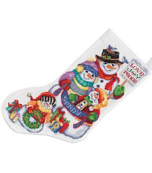 Janlynn Snow Folks Stocking Cntd X-Stitch Kit