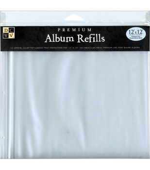"Die Cuts With A View Premium 12""X12"" Postbound Album Refills"