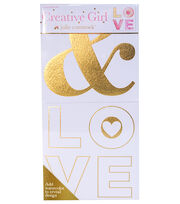Creative Girl by Julie Comstock™ Watercolor Canvas Block Ampersand Love, , hi-res