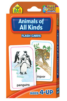Flash Cards-Animals Of All Kinds 54/Pkg