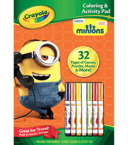 Crayola Coloring & Activity Pad W/Markers-Minions, , hi-res