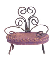 Fairy Garden French Clay Wire Bench, , hi-res