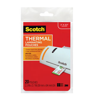 Scotch® Termal Pouches Business Card 20 Pk