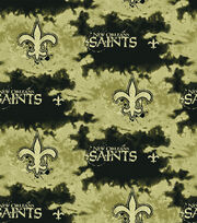 New Orleans Saints NFL Fleece Fabric by Fabric Traditions, , hi-res