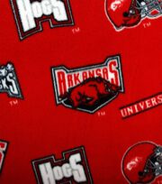 University of Arkansas NCAA  Fleece Fabric, , hi-res