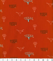 University of Texas NCAA Herringbone Cotton Fabric, , hi-res