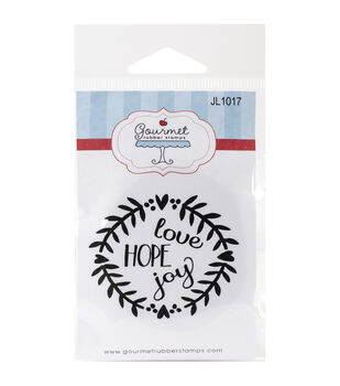 Gourmet Rubber Stamps Cling Stamps-Love Hope Joy