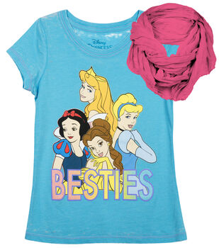 Disney Princess Besties Shirt with Scarf