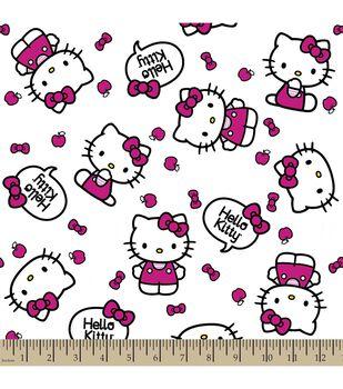 Sanrio Hello Kitty Print Fabric-Quote