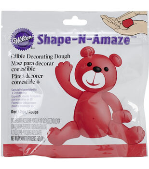 Edible Decorating Dough 6 Ounces/Pkg-Red