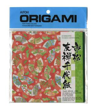 Aitoh Ichimatsu Yuzen Chiyogami Origami Paper