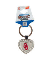 University of Oklahoma NCAA Heart Keychain, , hi-res