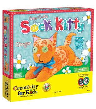 Creativity For KidsSew Cute Sock Kit-Kitty