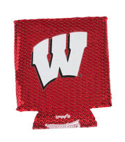University of Wisconsin NCAA Sequin Koozie, , hi-res