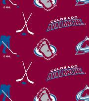 Colorado Avalanche NHL Tossed Print Fleece Fabric, , hi-res