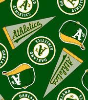 Oakland Athletics MLB  Fleece Fabric, , hi-res