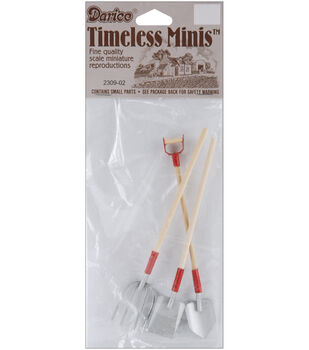 Darice Timeless Miniatures-Garden Tools-3